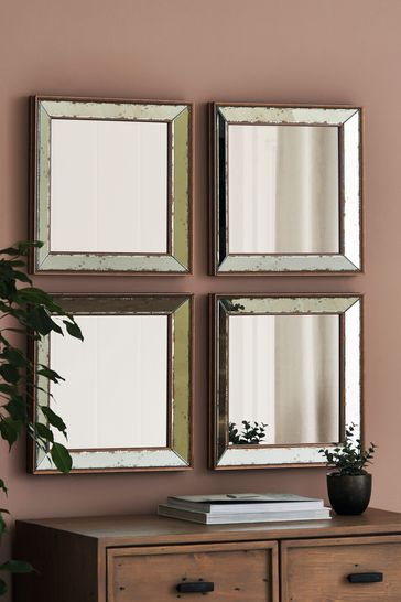 Buy Set Of 4 Bambra Mirrors By Gallery From The Next Uk Online Shop