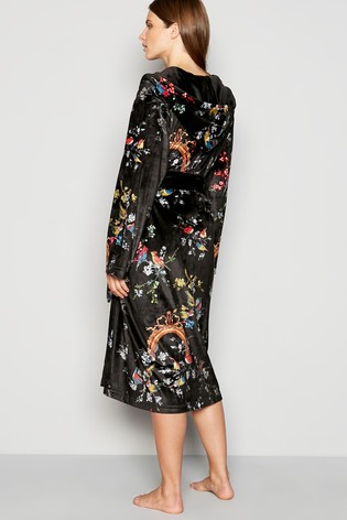 7c8685c08 Buy B by Ted Baker Black Opulent Fauna Robe from the Next UK online shop