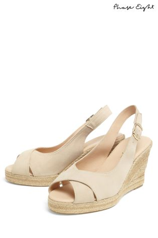 08d41206810 Buy Phase Eight Natural Lana Peep Toe Espadrille Wedge from Next Ireland