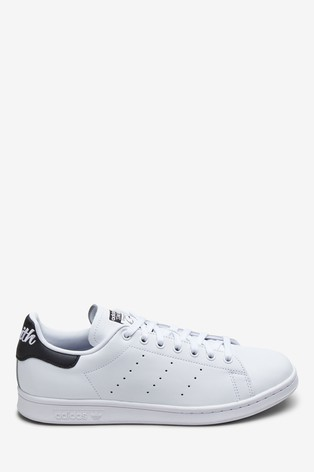 new concept 6d2bd e1918 adidas Originals White Script Stan Smith Trainers