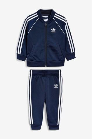 buy good low cost hot sales adidas Originals Infant Navy Superstar Tracksuit