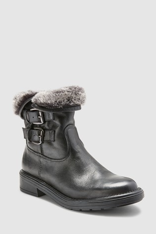 dfda167c501 Dune Black Rita Leather Cuff Boot