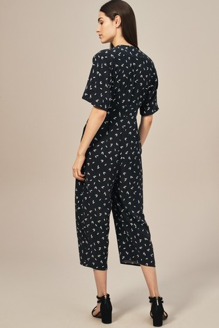 b6189f00e2e Buy Whistles Camilla Black White Print Button Jumpsuit from Next Ireland