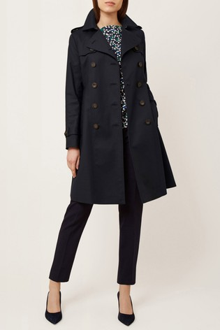 autumn shoes new style of 2019 100% authentic Buy Hobbs Blue Saskia Trench Coat from Next Gibraltar