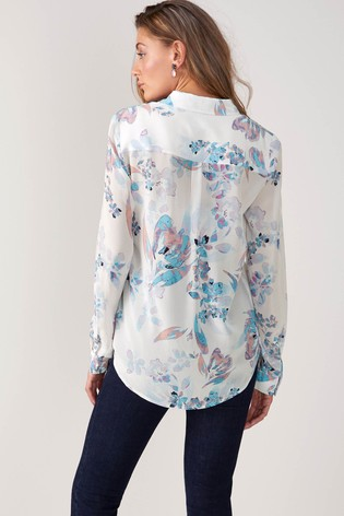 efe5fcdb278d93 Buy Pure Collection Relaxed Washed Silk Blouse from the Next UK ...