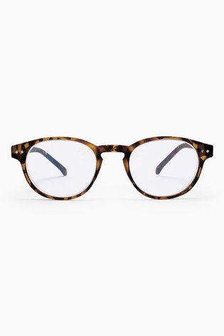 aaa9b9b129 Buy Blue Shield Round Glasses from the Next UK online shop
