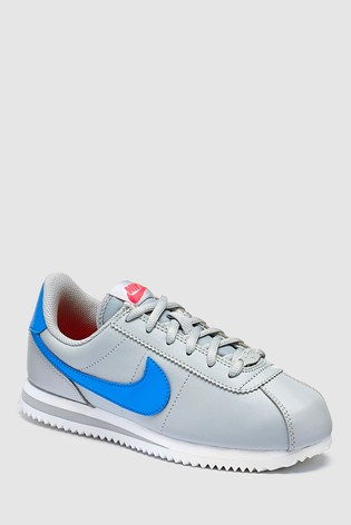 official supplier factory authentic half off Nike Grey Cortez Youth Trainers