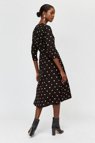 f3969a4920fab Buy Warehouse Black Spot Print Midi Dress from Next USA