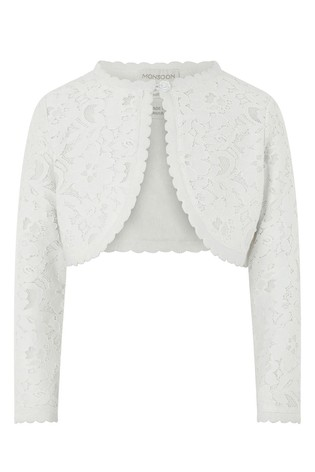 low priced a7397 39067 Monsoon White Baby Eliona Cardigan