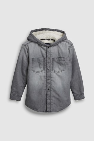10ad14862bb Buy Long Sleeve Hooded Shirt With Borg Lining (3-16yrs) from the ...
