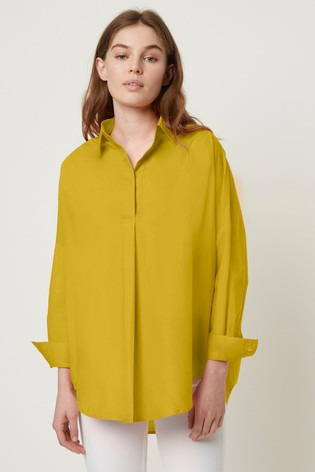 4eccdf7d0c0 Buy French Connection Yellow Rhodes Poplin Popover Shirt from the ...