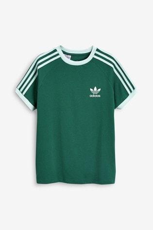 adidas Originals Green 3 Stripe California T Shirt