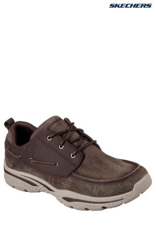 62332831c3bc Buy Skechers® Brown Canvas Lace-Up With Air Cooled Memory Foam from ...