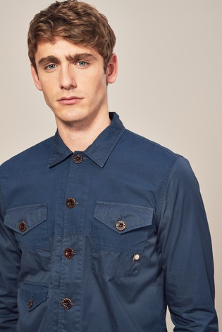 0067d7ab563 Buy Pretty Green Navy Robinia Overshirt from Next Ireland