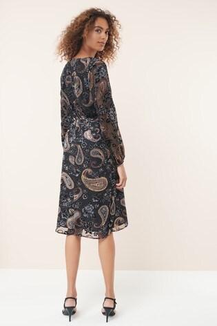 e30935dca5c32 ... Black Velvet Burnout Dress; Black Velvet Burnout Dress. Next