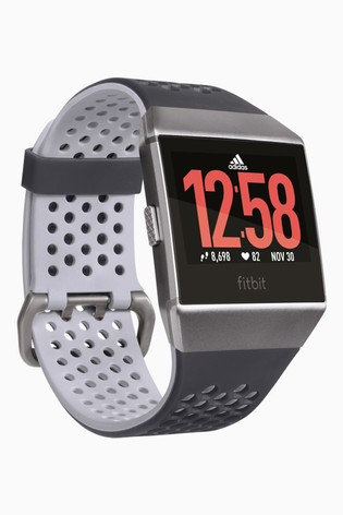 Multa Derretido Maletín  Buy Fitbit® Ionic™ Blue/Grey adidas Edition Smart Watch from the Next UK  online shop