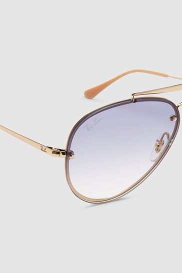 Buy Ray-Ban® Gold Blaze Aviator Sunglasses from Next Luxembourg ef368ce36362