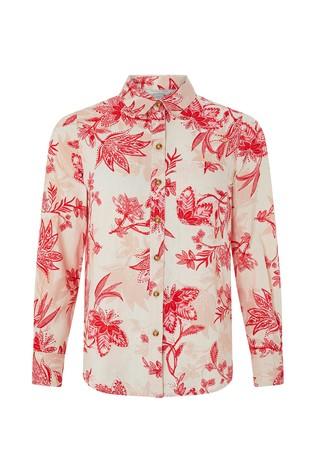 fff18cbe7 Buy Monsoon Ladies Natural Alyssa Print Linen Shirt from Next Italy