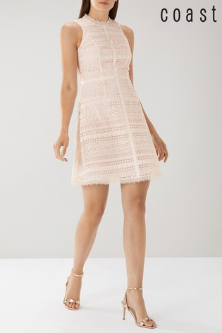 Lace Dress Pink Kourtney Kourtney Dress Lace Coast Pink Coast 6ygYbf7
