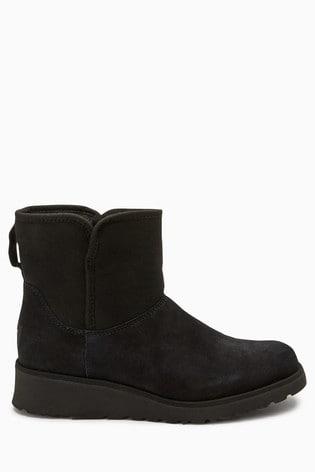Buy UGG® Black Kristin Wedge Mini Boot