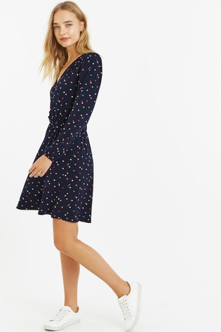 a6238d1ad2 Buy Oasis Black Star Button Skater Dress from the Next UK online shop