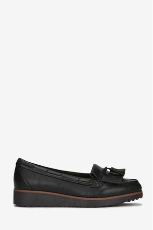 3c90f338c6d Buy Evans Black Extra Wide Fit Tassel Loafer from the Next UK online ...