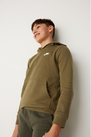 professional sale good run shoes Nike Club Khaki Overhead Hoody