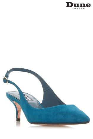 82cc4b7bf82a Buy Dune Teal Suede Casandra Kitten Heel Slingback from Next Ireland