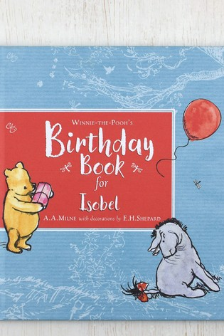 buy personalised winnie the pooh birthday book by signature book