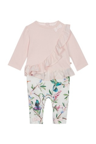 a1c9ed1e5 Buy baker by Ted Baker Baby Girls Frill Detail Mockable Romper from ...