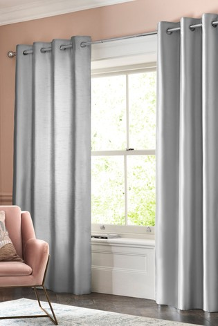 Buy Faux Silk Curtains From The Next Uk Online Shop