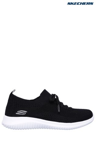 535d9f73f01 Buy Skechers Black Deco Lace Stretch Flat Knit Slip On With Air