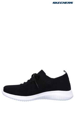 Buy Skechers® Black Deco Lace Stretch Flat Knit Slip-On With Air ...