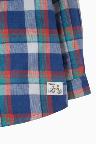 6d76269a8f64 Buy Frugi Blue Hector Checked Shirt from Next Ireland