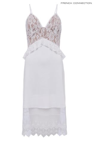 c1da5887a4a Buy French Connection White Delos Lucky Layer Strappy Dress from ...