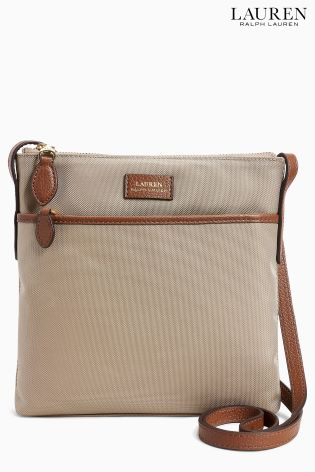 Lauren Ralph Lauren� Beige Nylon Cross Body Bag ...