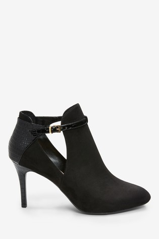17b346571db Buy Black Forever Comfort® Open Side Shoe Boots from Next India
