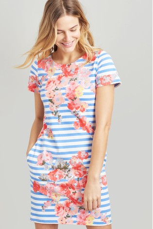 6f7723e1df0 Buy Joules Blue Ottie Jersey Woven Mix Dress from the Next UK online ...