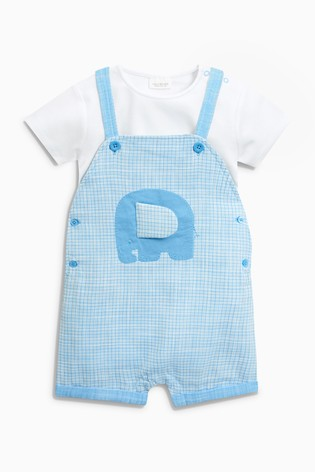 348aa159717a9 Buy Elephant Dungarees And Bodysuit Set (0mths-2yrs) from Next Ireland