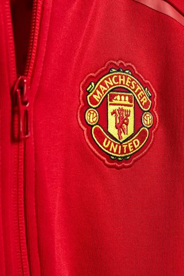 7b7749d4d Buy adidas Manchester United FC 2018 19 Kids Z.N.E. Jacket from Next ...