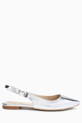 d36ab3abfb8 Buy Boden Silver Metallic Hilary Slingback from Next Ireland