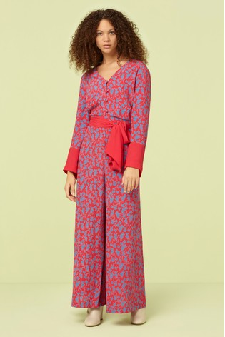 79fb7b469da0 Buy Finery London Pink Adalee Print Jumpsuit from the Next UK online ...
