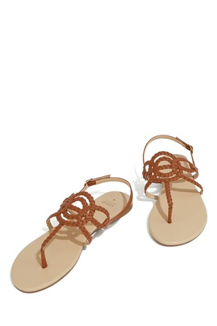 017cdd5b4eeb Buy Oasis Tan Tilly Toepost Sandal from the Next UK online shop