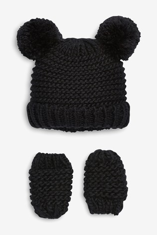 891166ac49b Buy Hat And Mitts Set (Younger) from Next Ireland
