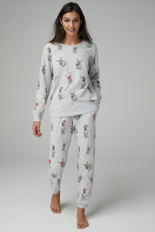 542ebdc772 Buy Christmas Bunny Pyjamas With Ribbon Wrapping from Next Ireland