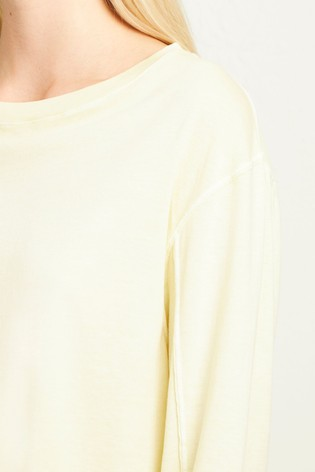 fb6c572a73e Buy French Connection Yellow Zinnia Jersey Cropped Top from Next Italy