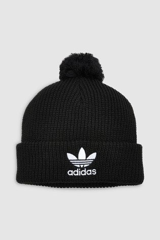 Buy adidas Originals Black Pom Pom Beanie from the Next UK online shop 8857535a36b