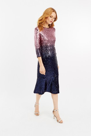 be8ac4b5 Buy Oasis Purple Ombre Sequin Midi Dress from Next Ireland