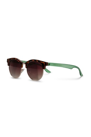 c2e34256fdd7 Buy Oliver Bonas Brown Rounded Clubmaster Sunglasses from the Next ...