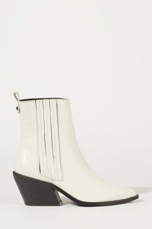 Jigsaw White Heath Leather Cowboy Boot